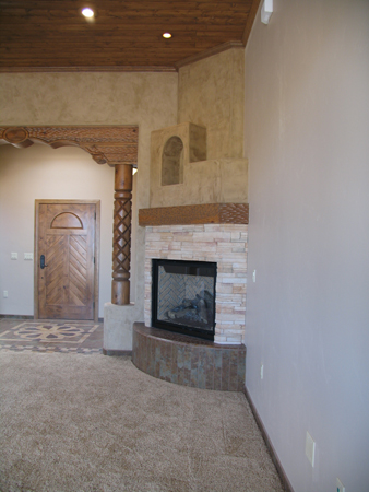 Living Area and Fireplace