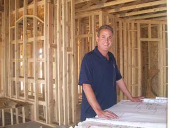 Bob Flamm in one of his custom homes in Las Cruces